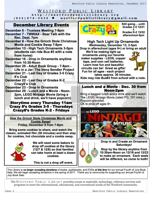page 2 of december newsletter